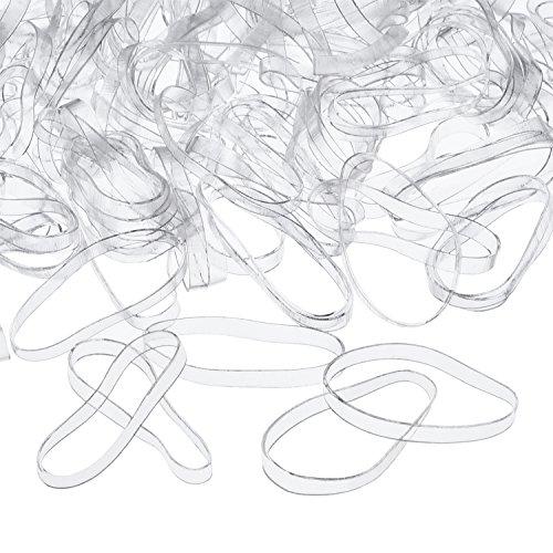 3 mm Elastici per Capelli Trasparente Fermacoda, 500 Pezzi