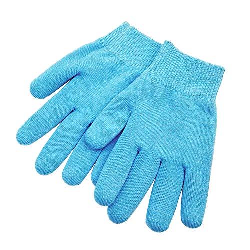 Pinkiou Guanti Gel Spa Ammorbidire imbiancare la pelle Trattamento Idratante delle mani Guanti di cura della mascherina (blu)