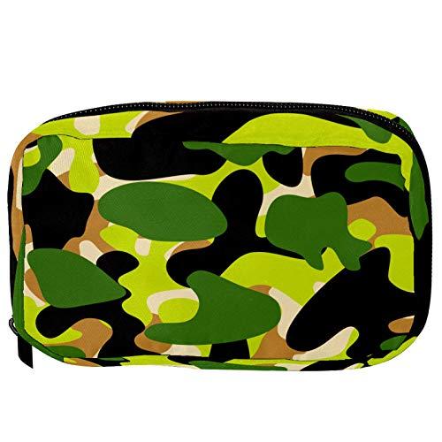 Sacchetti per cosmetici Camo verde militare Handy Toiletry Travel Bag Oragniser Makeup Pouch per donne e ragazze