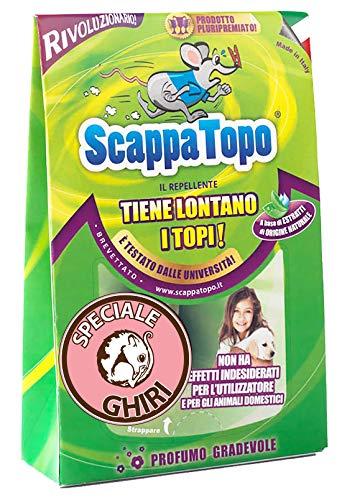 ScappaTopo Ghiri Repellente Naturale Contro i Ghiri – L'Unico! 3 Pezzi. Registrato aTransparency di Amazon, Che ne certifica l'autenticità per Proteggere i Clienti.