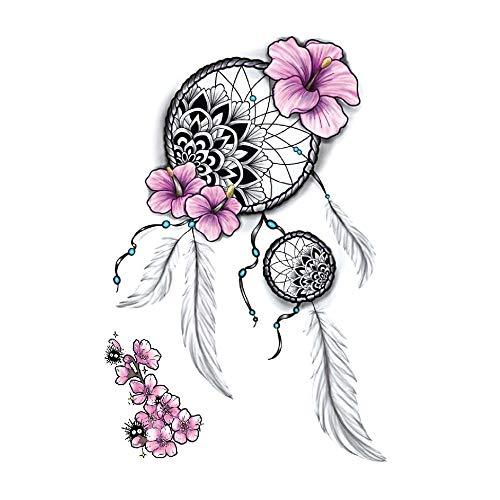 Acchiappasogni, piume, tatuaggi, fiori, festival, colorato, HB446X