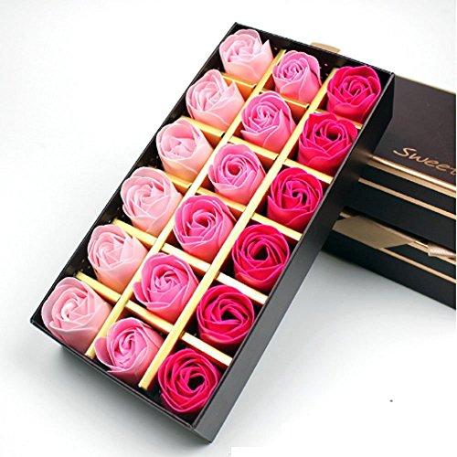 Binnan Rosa Aromaterapia Sapone Regalo Creativo per San Valentino, Compleanno, Festa della Mamma-18 Pezzi