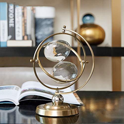 ZHQHYQHHX Decorazioni per la casa personalità Globe Clessidra Moderna Rack Vigneti Tatuaggi SCRIVANIA Ornamenti 19 * 27cm Ornamenti