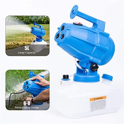 4YANG Spruzzatore Elettrico ULV 5 L Portatile ULV Fogger Elettrico Machine Nebulizzatore di pesticidi per Hotel/Residence/Comunità/Ufficio Disinfezione Sterilizzazione