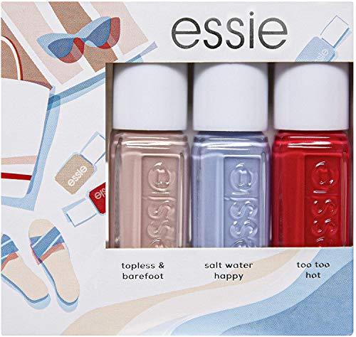 Essie Kit Mini Smalti Summer 2020, Cofanetto 3 Smalti Effetto Semipermanente, Colore Intenso, Topleaas and Bearfoot + Saltwater Happy + Too Too Hot
