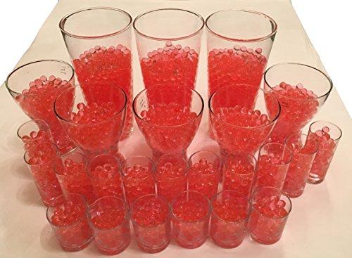 4000 sfere d'acqua in gel di cristallo di terra Cristal perle per vasi decorazione 11-15 mm di diametro – piante candele fiori dispenser acqua cristallo cristallo (rosso)