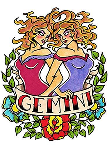 Tatuaggi con segno zodiacale animale, motivo: gemini