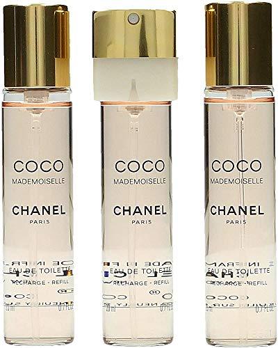 Chanel, Coco Mademoiselle, Set di ricariche Eau de Toilette da donna, 3 x 20 ml