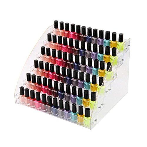 Porta Rossetto Astuccio in Acrilico Trasparente Organizzatore di smalti per Unghie Multistrato Scaffale di Esposizione dei Cosmetici del Rossetto