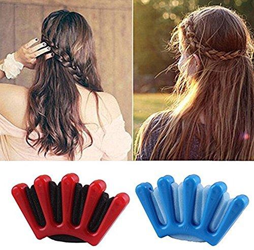 2 supporti in spugna per intrecciare i capelli, strumento per acconciature fai da te