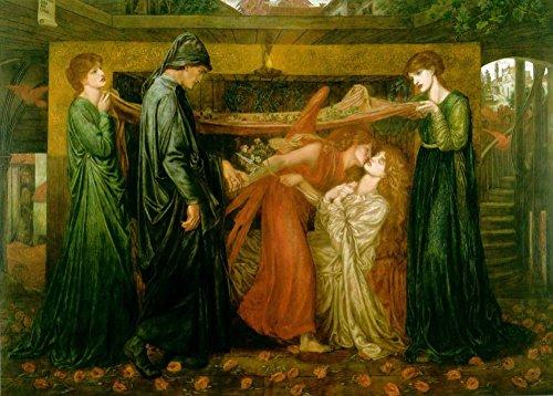 Dante Gabriel Rossetti sogno al momento della morte di Beatrice C1871250gsm Lucido Art poster A3di riproduzione