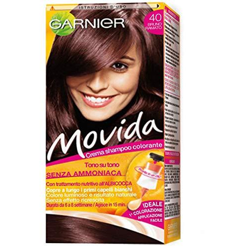 Garnier Tinta Capelli Movida, Crema Colorante per Capelli, Bruno Ramato