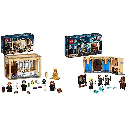 LEGO Harry Potter Hogwarts: Errore della Pozione Polisucco, Castello Giocattolo con Minifigure d'oro del 20° Anniversario & HarryPotter StanzadellenecessitàdiHogwarts, Playset da Costruzione