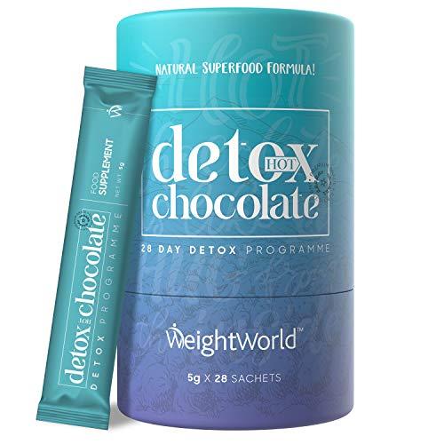 DETOX DRENANTE FORTE DIMAGRANTE In Cacao In Polvere - Depurativo - Disintossicante - Liquido- 28 Bustine - Solo 25 Calorie - Detox Naturale Con Garcinia Cambogia L-carnitina Ginseng