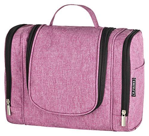 B.PRIME Beauty Case CLASSIC XL Rosa - Necessaire spazioso da appendere - 28 x 13 x 22 cm