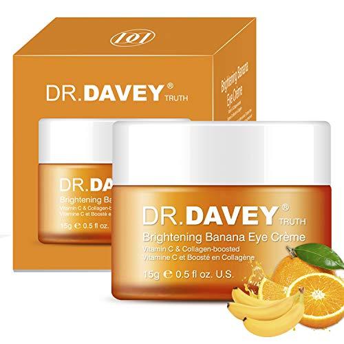 Dr.Davey Crema Contorno Occhi Antirughe Idratante con Vitamina C Gel Antietà con Collagene e Acido Ialuronico per Occhiaie & Occhi Gonfi Idratante Nutriente Anti-Gonfiore15g