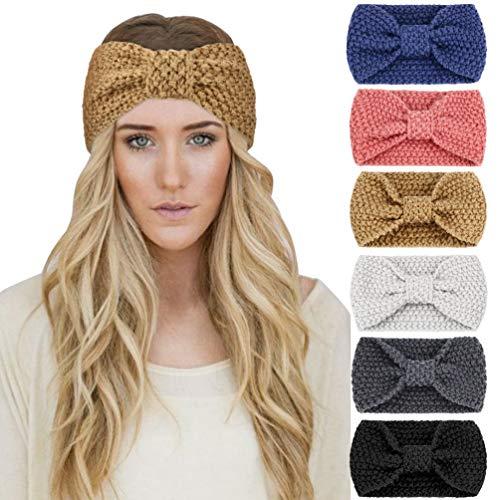 DRESHOW - Confezione da 6 fasce per capelli, per annodarli a turbante, da donna - multicolore - Taglia unica