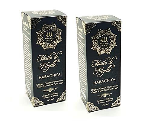 Olio di Nigella - Cumino Nero ⭐️ 100ml ⭐️ Con Semi di Grado Puro al 99% (Etiopia) | Nessun trattamento chimico | Qualità alimentare e cosmetici | Cura per Capelli, Corpo, Pelle (2 x 100ml)