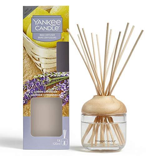 YANKEE CANDLE Diffusore di Aroma a Bastoncini, Limone e Lavanda, 120 ml, Durata della fragranza: Fino a 10 Settimane