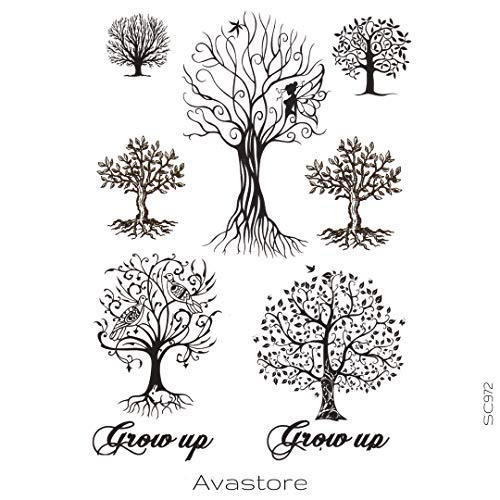 AVASTORE - Tatuaggio temporaneo da donna, motivo: albero della vita spirituale