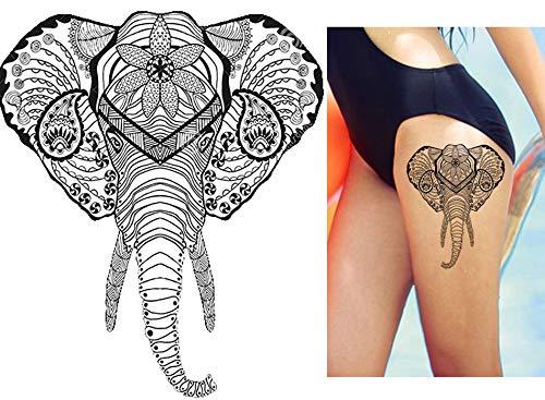 Tattoo adesivo elefante tatuaggio falso una volta tatuaggio per corpo km102
