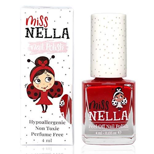 Miss Nella STRAWBERRY 'N' CREAM- rosso Smalto speciale per bambini, con formula peel-off, a base d'acqua e senza odori