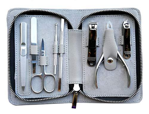 Rui Smiths Pro Kit Manicure 8 Pezzi in Acciaio Inossidabile per la Casa e il Salone con Taglia Cuticole di Precisione Professionale e Stile Spingi Cuticole 105