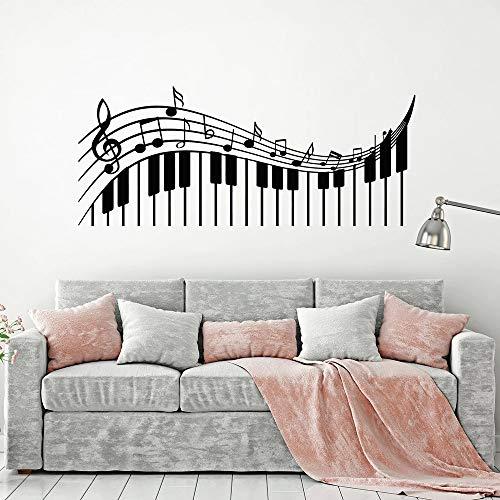 Adesivi Murali, Tatuaggi Murali, Chiavi Di Violino Chiavi Musicali Decalcomania Da Muro In Vinile Classroom Music Piano Note Wall Sticker Soggiorno Modern Home Decor 99X42Cm
