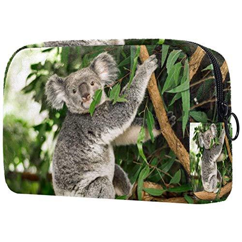 Organizer per borsa per il trucco Piccolo cosmeticoBagsforWomen Travel Toiletry Bag Custodia per il trucco Borsa borsetta Koala australiano all'aperto in un albero di eucalipto
