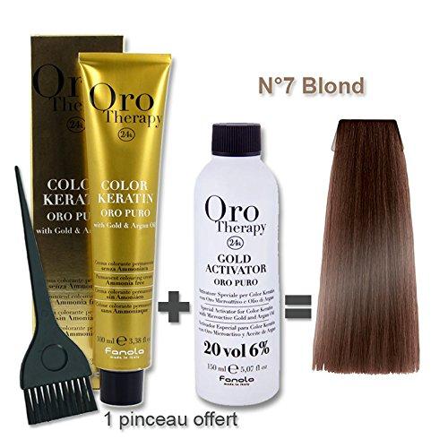 Kit per colorazione capelli, 100 ml Oro Therapy Blond 7/ + ossante 20 volumi da 150 ml