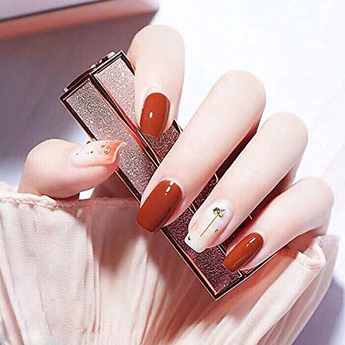 YFLDK Unghie finte Manicure per unghie in autunno nuovo vibrato personalità donne in gravidanza unghie smalto fototerapia unghie