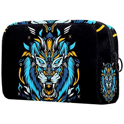 Tiger Artwork - Beauty case portatile per trucchi e trucchi, da viaggio, per artisti