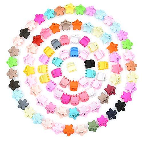 Vathery 90 Pcs Mini Fermagli per Capelli in Plastica Mollette Bambina Capelli Accessori per Ragazze