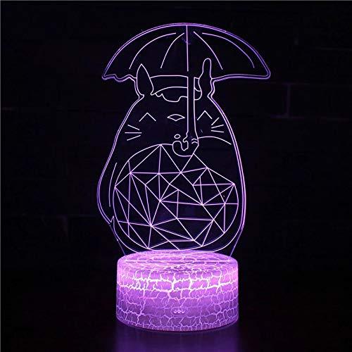 Lampada per atmosfera personaggio dei cartoni animati Lampada da tavolo decorativa a LED Decorazione per interni 3D Lampada da tavolo in acrilico Lampada da tavolo per decorazione regalo di festa