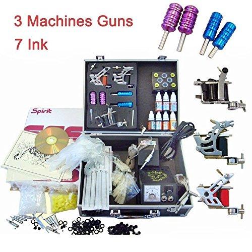 Set completo macchina per tatuaggi Machine Stigma 2 manici antiscivolo professionali per tatuaggi / 50 aghi sterili / alimentatore per tatuaggi di alta qualità