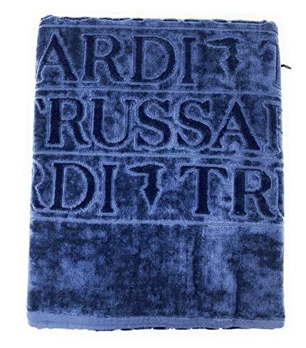 Trussardi Home Linen Telo Bagno Art. Overlogo in Spugna cimata e idrofila all'Interno cm. 95x150 (Blue 003)