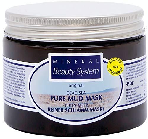 Maschera in Fango del Mar Morto Mineral Beauty System, 450 g, per viso, corpo, capelli. Cura brufoli, punti neri, acne. Azione esfoliante e anti-età. Per uomo o donna e pelli normali, secche e impure