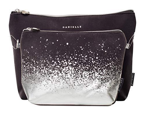 Danielle Creations Charocal + argento Twin set borsa porta cosmetici bellezza–Velvet Splash