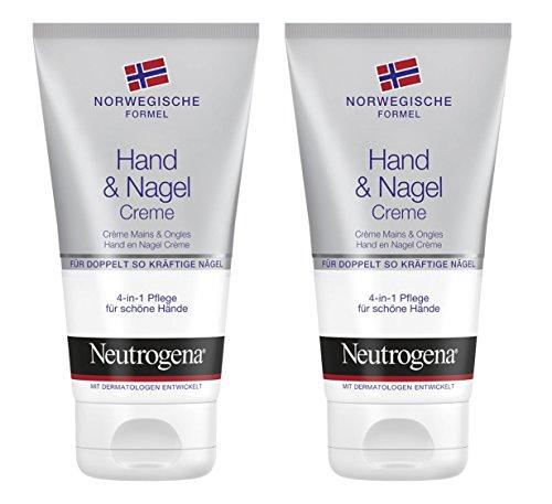 Neutrogena crema per mani e unghie, formula norvegese, confezione da 2 (2x 75ml)