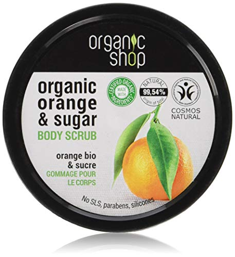 Organic Shop - Scrub corpo all'arancia siciliana, 250 ml