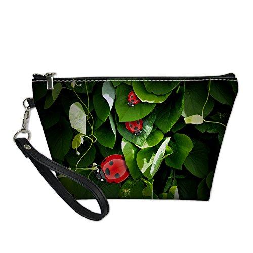 HUGS IDEA, Beauty Case da viaggio Verde Coccinella Septempunctata small