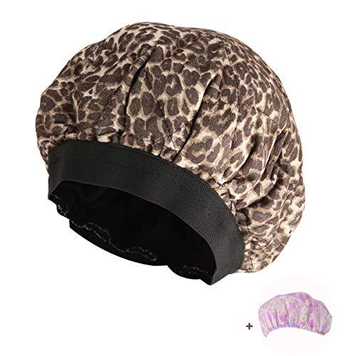 Locisne Cappuccio termico condizionamento,cappuccio cura capelli calore per microonde terapia capelli,cappucci termici trattamento dei capelli conservazione interna dei semi lino,leopardo