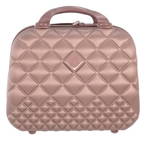 Camomilla MILANO Vanity Case (15 lt.), Beauty Case da Viaggio, Materiale Rigido, Chiusura Zip, Colore Oro Rosa