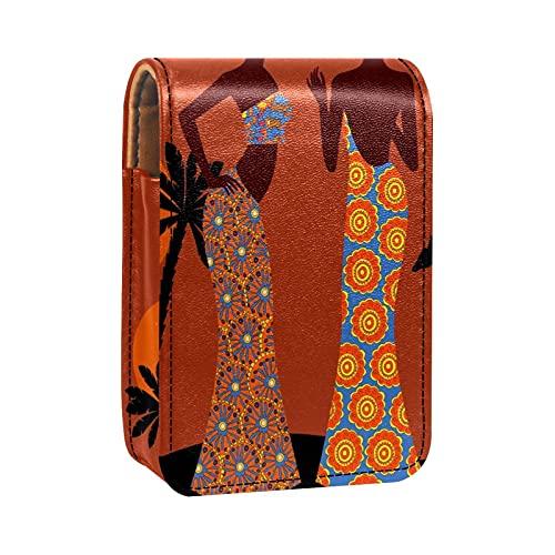 Porta rossetto Mini porta rossetto Light Light Borsa organizer con specchio per borsetta porta cosmetici da viaggio