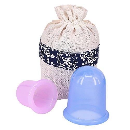 Kindax 2pz Coppette Anticellulite per Massaggio coppettazione, Massaggiatori Anti Cellulite per Cupping Therapy per Liscia della Pelle a Buccia d'arancia
