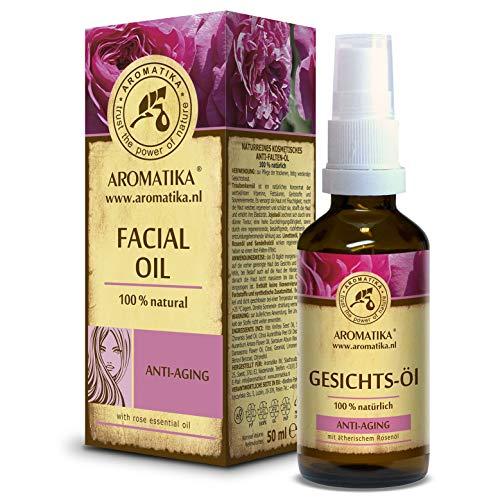 Olio per Viso 50ml - Puro Olio Naturali al 100% di Jojoba - Olio di Semi Uva - Calce - Neroli - Rosa - Sandalo - Olio Antirughe per la Cura Quotidiana per Tutti i Tipi di Pelle - Cosmetici