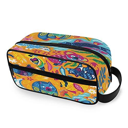 Australia Animals Toiletry Bag Portable Borsa per cosmeticis Travel Makeup Bag Pouch Wash Gargle Bag Outdoor Toiletries Bag Organizer Cosmetic Travel Bag for Women Girls Men