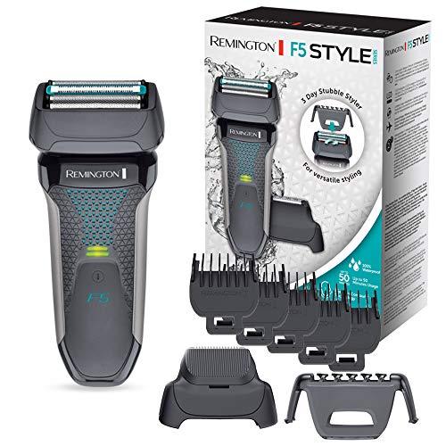 Remington Rasoio Barba elettrico Style Series F5 Impermeabile, Pettine e Rifinitore a scomparsa, Accessorio per barba dei 3 giorni, F5000