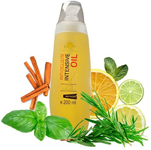 Ultra Intensivo Anticellulite Snellente Olio di massaggio Dimagrante Drenante 100% Naturale 200 ML