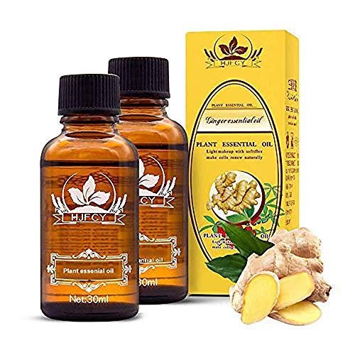 Smart Art Ginger Massage Olio essenziale vegetale Olio 100% puro naturale, oli da massaggio Spa, New Magic Linfodrenaggio Pediluvio Raschiando Spa Bath Massage Cura dei capelli (2pcs)